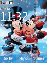 Animated Mickey Love tema screenshot