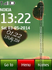 Heart Digital Clock tema screenshot