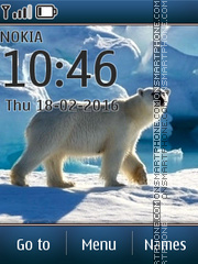 White Polar Bear tema screenshot