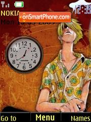 Sanji Clock Screenshot