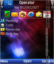 Blue Rays tema screenshot