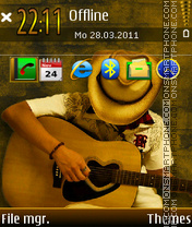Guitar player 01 tema screenshot